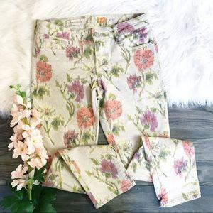 Pilcro Floral Ikat Stet Slim Jeans